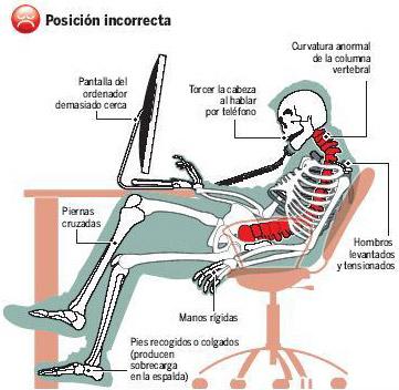 Image result for postura altura adecuada de computadoras