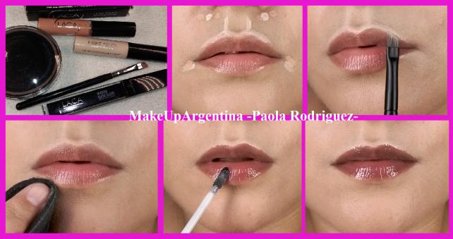 7-4 Tuto Abril - Corrección y highlight de labios + Mirror Shine Gloss Laboratorio LACA