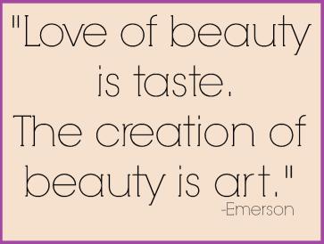 11-12 El amor por la belleza es gusto, la creación de belleza es arte